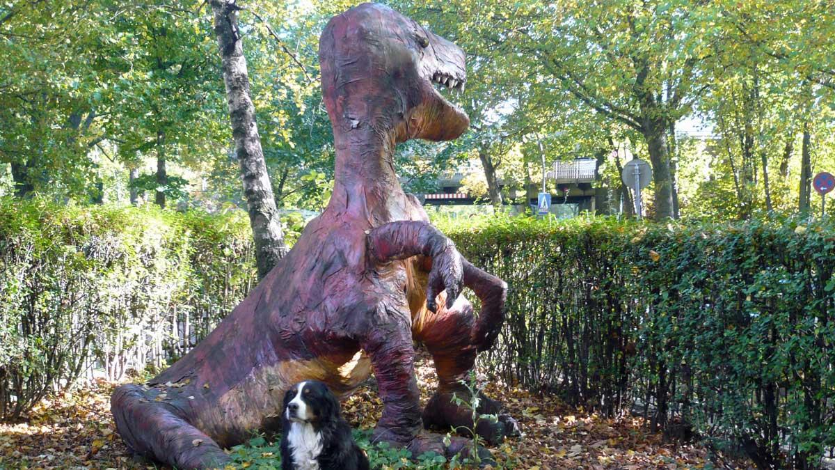 Der Dino im Herbst mit Rocca